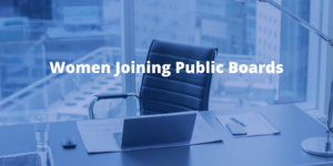 Women Joining Public Boards Report: October 2020